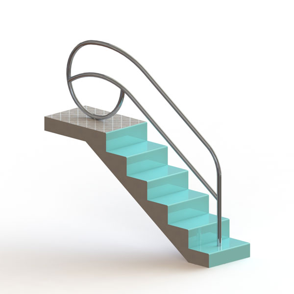 Portable Pool Handrails : Solarian quot stair rails spectrum products