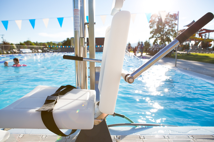 Gallatin water powered assisted access lift spectrum products for Swimming pool lifting out of ground