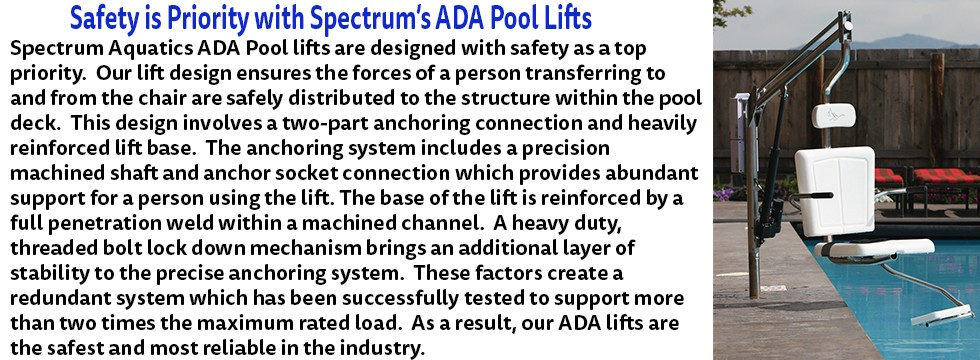 Safety is Priority with Spectrum's ADA Pool Lifts