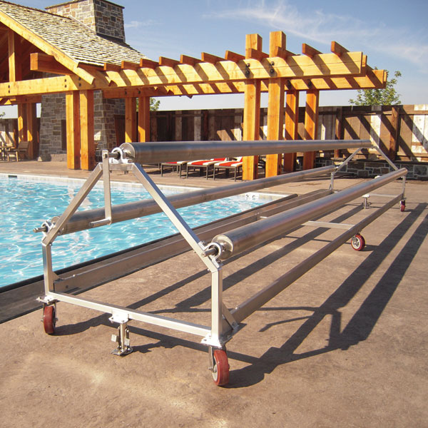 pool cover storage system