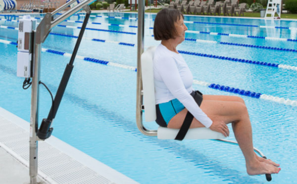 Ada pool lifts assisted access spectrum products for Hydraulic chair lift for swimming pool