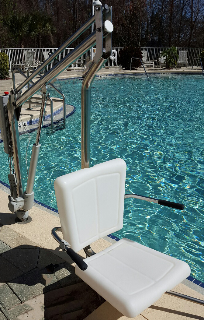 Motion trek 350 spectrum products for Hydraulic chair lift for swimming pool