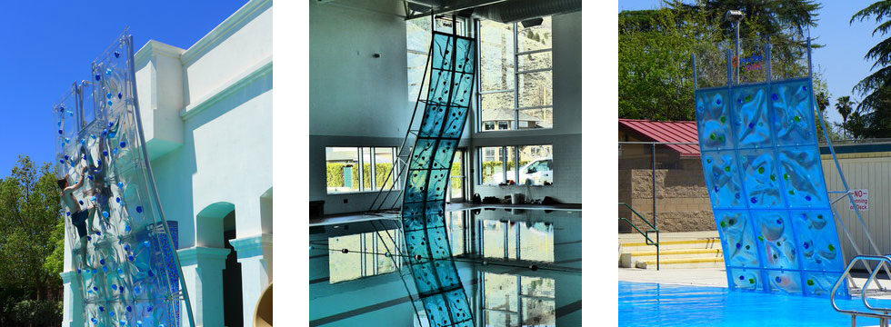 AquaClimb Kurve and Luxe Pool Climbing Walls