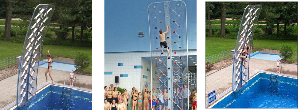 AquaClimb Sport Pool Climbing Walls