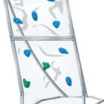 aquaclimb classic plus pool climbing wall - ice