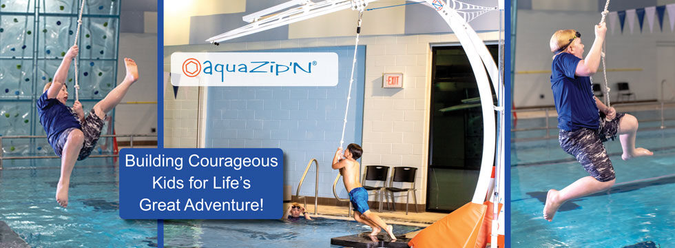 AquaZipN aquatic adventure play