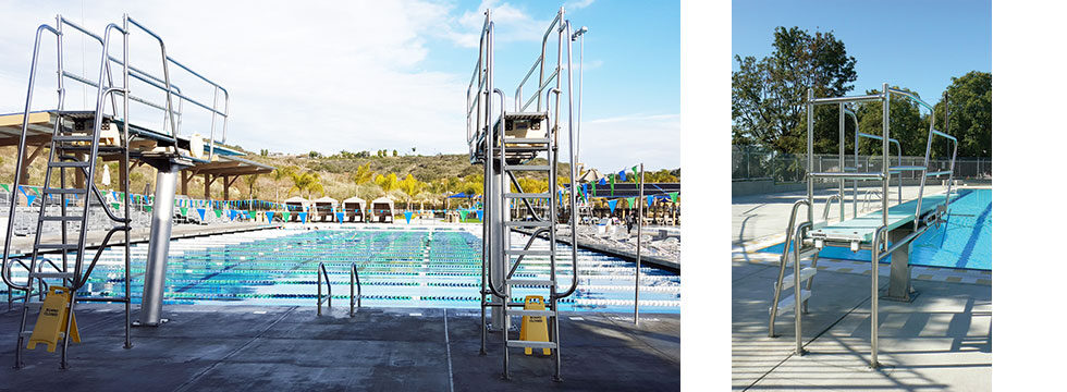 diving towers and boards