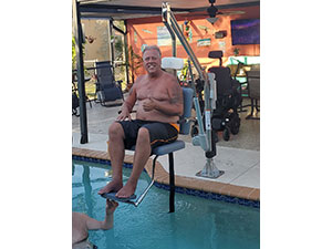 ADA lift for pools and hot tubs